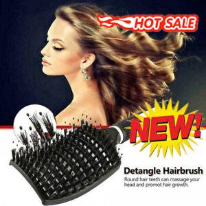 Abody Bristle Nylon Detangle Hairbrush Women Hair Scalp Massage Comb Brush Tools