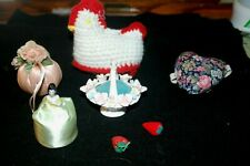 Lot of Vintage Pin Cushions and Strawberry Emerys