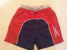 Reebok Sports Shorts Large(Boys)Red and Navy Blue Block Colour
