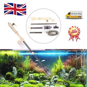New Electric Aquarium Syphon Fish Tank Pump Vacuum Gravel Water Filter Cleaner