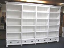 großer Bücherschrank Bibliothek in Shabby Chic weiß  Regal im Landhausstil