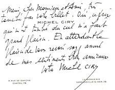🌓 Peintre Michel CIRY (1919-2018) | carte autographe signée | Réception PRIX