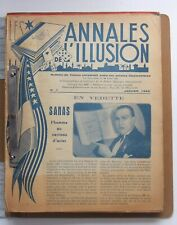 PRESTIDIGITATION - MAGIE / LES ANNALES DE L'ILLUSION - COMPLET EN 21 N°  1945-47