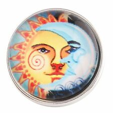 Button Click Druckknopf  Sonne & Mond 0203 - kompatibel mit Chunk Armband