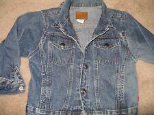 Children's Sprockets denim jacket size 5 metal snaps/ waist snap to size