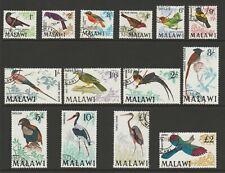 Malawi 1968 QEII Complete set SG 310-323 Fine used.