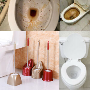 Bathroom Stainless Steel Long Handle Wash Toilet Brush Cleaning Brush Set