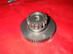 ANLASSERGETRIEBE im Deckel Zahnrad Doppelzahnrad Getriebe HONDA XLR 125 JD16