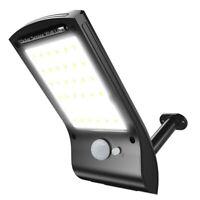 Waterproof LED Solar Wall Street Light Outdoor PIR Motion Sensor Garden Lamp RF