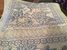 Blue and White Floral Design Pillow Cases (4)