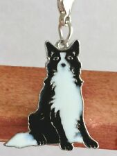 Border Collie Shepherd Dog Pup Bag Purse Charm Dangle Zipper Pull Jewelry