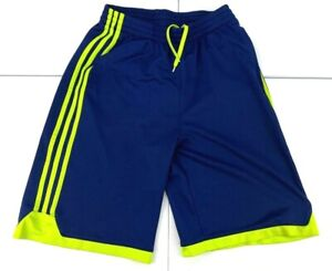 Adidas Shorts Youth Blue Green Large Stripes Soccer Football Kids Running