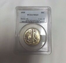 1935 50C Walking Liberty PCGS MS 65 Coin