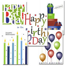 Birthday Note Card Assortment by CroninCards box of 30 note cards+32 env.
