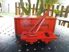 HORNBY HACHETTE O série M WAGON GRUE DE SECOURS rouge, état neuf en boite.
