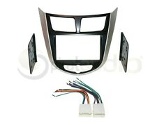 Radio Installation Dash Kit Combo Standard + Oversized 2DIN + Wire Harness HY50