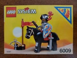 LEGO SYSTEM 6009 Castle BLACK KNIGHTS 1992 INSTRUCTIONS MANUAL ONLY
