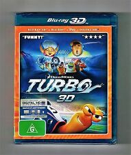 Turbo - 3D Blu-ray + Blu-ray + Dvd Brand New & Sealed