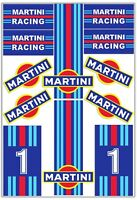 Set 12 PVC Vinyl Decals Stickers Martini Racing Rally Stripes Car Helmet Moto