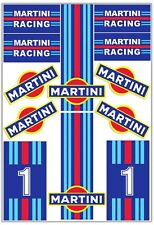 Set 12 PVC Vinyl Decals Stickers Martini Racing Rally Stripes Car Helmet Moto