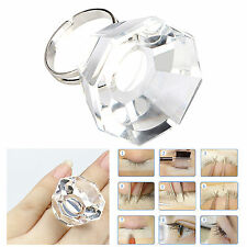 Durable Eyelash Extension Crystal Glass Adhesive Glue Ring Holder Pallet Tool