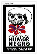 Cuban movie Poster 4 Cuba film.DARK Humor.Scull art.Home room interior design