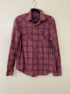 American Eagle Outfitters Men's Medium Snap Up Shirt Plaid