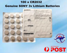 100 x SONY CR2032 3V LITHIUM CELL BATTERY  DL2032 BR2032 BUTTON BATTERIES Sealed