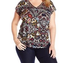 Women's Lucky Brand Floral Blouse  1x