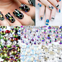 1728Pcs Nail Art Rhinestones Glitter Diamond Crystal Gems DIY Pedicure Accessory