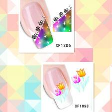 2Sheet/New Fashion Trend Beautifully Beautiful DIY Nail Stickers  XF1306+1098
