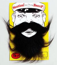 Black Beard & Moustache Set Boat Captain Sailor Pirate Nautical Fancy Dress