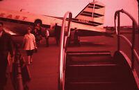 Original 35mm Slide Passengers Disembarking Northeast Airlines DC-3 Portland ME