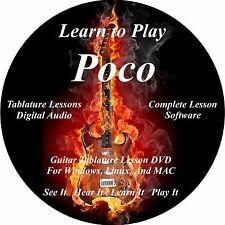 Poco Guitar TABS Lesson CD 40 Songs + BONUS!