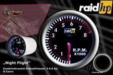 Raid hp Nightflight  Drehzahlmesser Zusatzinstrument Für 3, 4, und 6 Zylinder