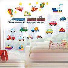Boys Room Wall Stickers Kids Art Cartoon Vehicles Childrens Bedroom Cars Decals