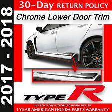 Genuine OEM Honda CIVIC TYPE R HATCHBACK Chrome Lower Door Trim  2017-2018