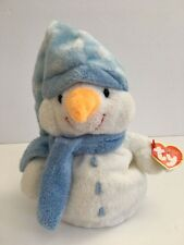 TY Pluffies Windchill White and Powder Blue Snowman with Tags