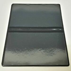 Vinyl Business / Credit Card cases, black with double clear pockets, QTY:250