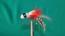 6QTY WIGGLE FLASHABUGGER BLACK Fishing Flies size 06