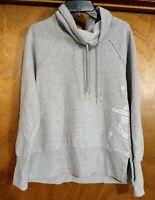 Women's Calvin Klein Cowl Neck Sweatshirt Gray Size Small
