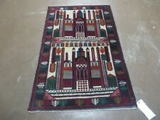 3' X 4' New Vintage Hand Made Afghan Balouch Tribal Wool Pictorial Rug # 055