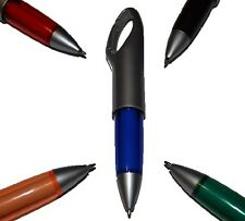 1 CARABINER CLIP PEN BLACK INK Free P&P! NEW & COOL!