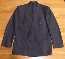 MANI GIORGIO ARMANI 43L Charcoal Double Breast Wool Suit Jacket/Blazer Saks 5th