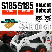 Bobcat S185 TURBO Skid Steer Set Vinyl Decal Sticker 7 PC SET + DECAL APPLICATOR
