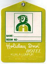 HOLIDAY INN Hotel old luggage tag label KUALA LUMPUR Malaysia Asia