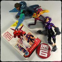 "BIG HERO 6 ~ Bundle 3"" Figures Card Game + FREE BADGE! (Disney 2014) [gotd]"