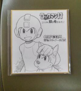 Rockman Sketch Set Mega Man 11 Capcom Tokyo Game Show 2018