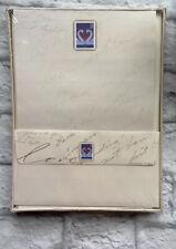 VTG Love Swan Stationary set 24 sheets of 12 envelopes Postal NEW Sealed 1997