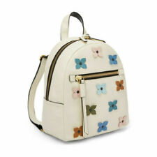 RARE NWT $188 Fossil Megan Backpack  ZB7750146 Coconut white cream flowers